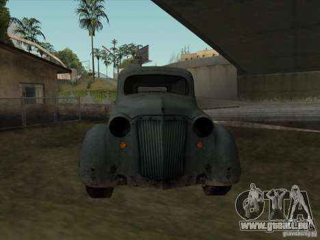 Das Fahrzeug des zweiten Weltkrieges für GTA San Andreas Rückansicht
