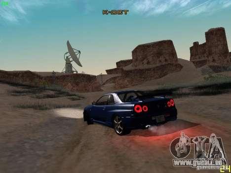 Nissan Skyline GT-R R34 V-Spec für GTA San Andreas rechten Ansicht