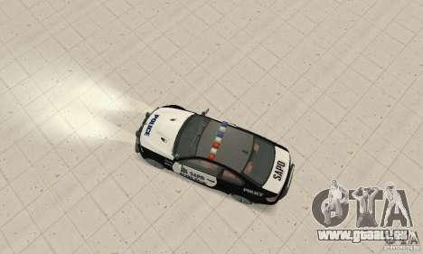 BMW M3 E92 Police für GTA San Andreas rechten Ansicht