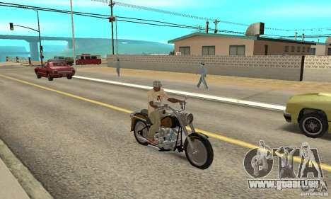 Harley Davidson FLSTF (Fat Boy) v2.0 Skin 3 für GTA San Andreas rechten Ansicht