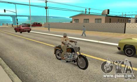 Harley Davidson FLSTF (Fat Boy) v2.0 Skin 3 pour GTA San Andreas vue de droite