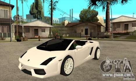 Lamborghini Gallardo Spyder v2 für GTA San Andreas
