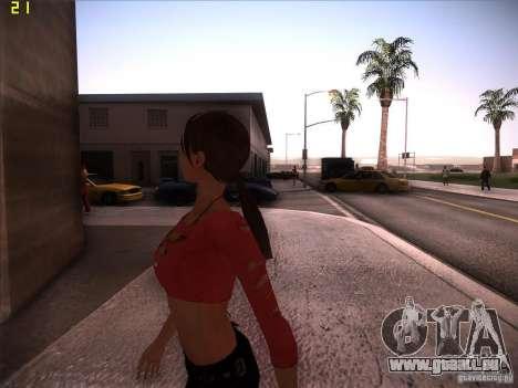 Skin Girl NFS PS pour GTA San Andreas quatrième écran