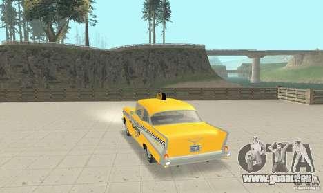 Chevrolet Bel Air 4-door Sedan Taxi 1957 für GTA San Andreas zurück linke Ansicht