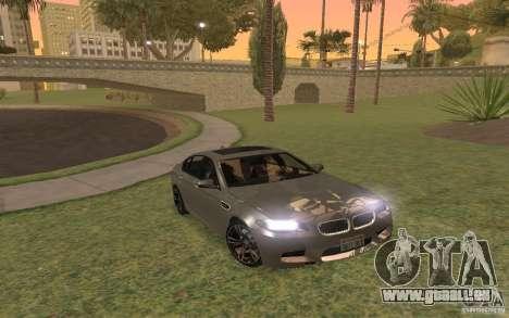 BMW M5 pour GTA San Andreas vue de dessus