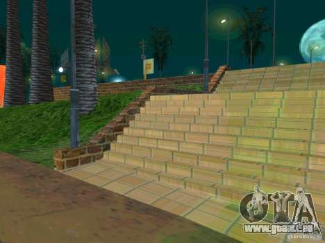 New basketball court pour GTA San Andreas troisième écran