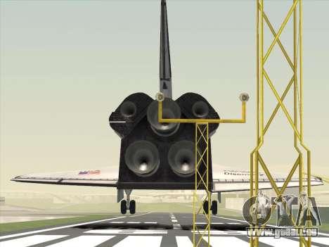 Space Shuttle für GTA San Andreas zurück linke Ansicht