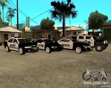 GTA San Andreas SAPD POLICE PACK pour GTA San Andreas sur la vue arrière gauche