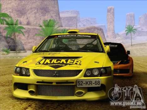Mitsubishi Lancer Evolution IX Rally pour GTA San Andreas