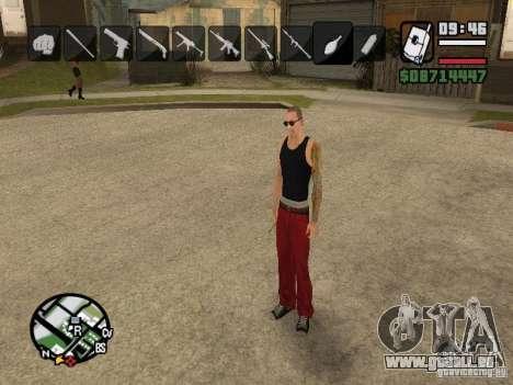 Symbole beim Ändern von Waffen für GTA San Andreas achten Screenshot