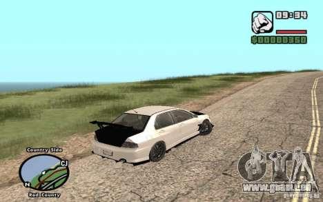 Mitsubishi Lancer Evolution 8 Carbon für GTA San Andreas linke Ansicht