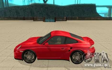 Porsche 911 (997) Turbo v3.0 pour GTA San Andreas laissé vue