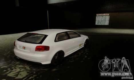 Audi S3 pour GTA San Andreas vue de dessous