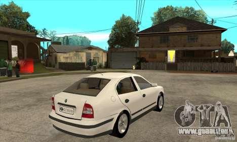 Skoda Octavia pour GTA San Andreas vue de droite