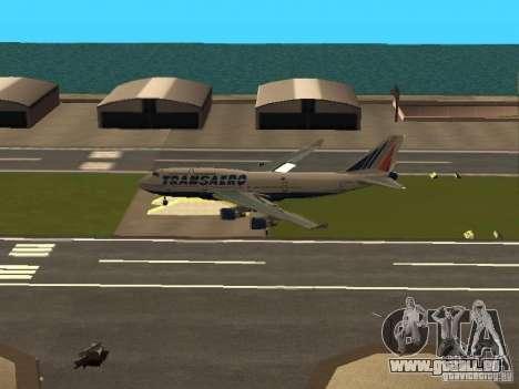 Boeing 747-400 pour GTA San Andreas vue intérieure