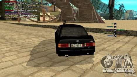 BMW M3 E30 1989 für GTA San Andreas zurück linke Ansicht