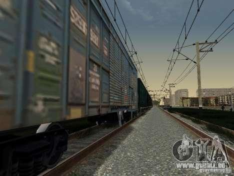 Wagon couvert pour GTA San Andreas laissé vue