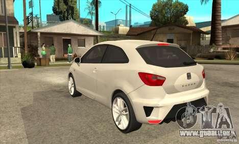 Seat Ibiza Cupra 2009 pour GTA San Andreas sur la vue arrière gauche