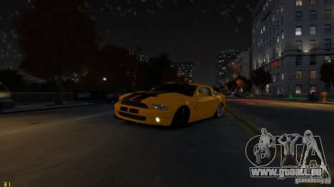 Ford Shelby Mustang GT500 2011 v2.0 pour GTA 4 Salon