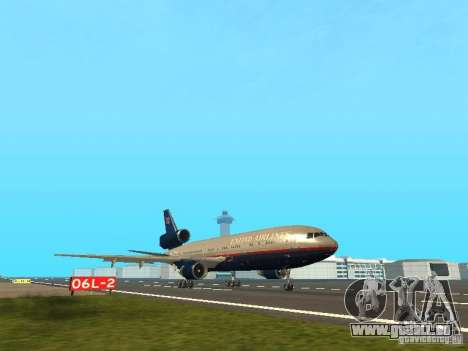 McDonell Douglas DC10 United Airlines für GTA San Andreas linke Ansicht