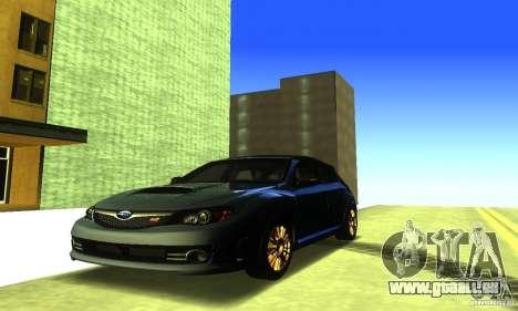 Subaru Impresa WRX STI 2008 pour GTA San Andreas vue de côté
