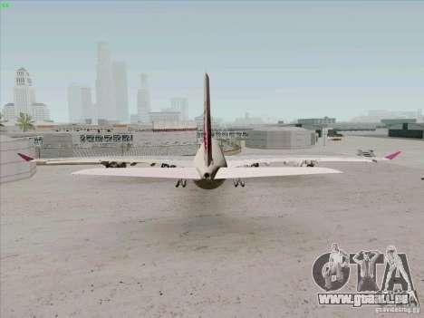 Airbus A-340-600 Quatar für GTA San Andreas zurück linke Ansicht