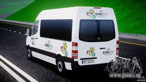 Mercedes-Benz Sprinter Euro 2012 für GTA 4 hinten links Ansicht