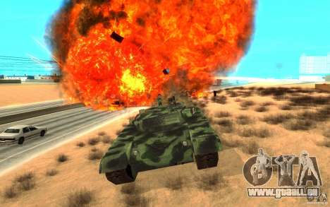 Char T-72 pour GTA San Andreas vue intérieure