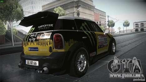 Mini Countryman WRC pour GTA San Andreas vue de droite