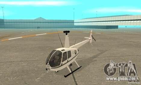 Robinson R44 Raven II NC 1.0 blanc pour GTA San Andreas laissé vue