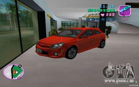 Opel Astra OPC 2006 für GTA Vice City Rückansicht