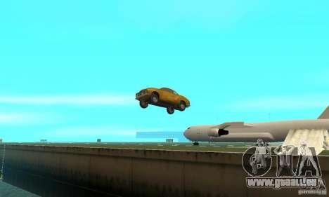 Volkswagen Karmann Ghia pour GTA San Andreas vue de dessus