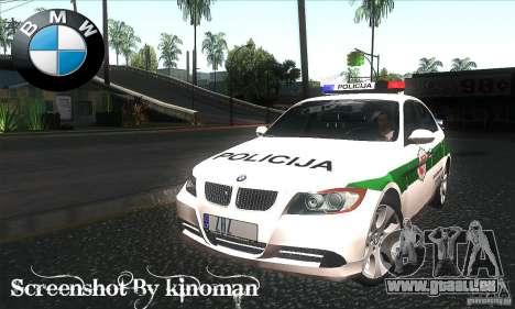 BMW 330 E90 Policija für GTA San Andreas