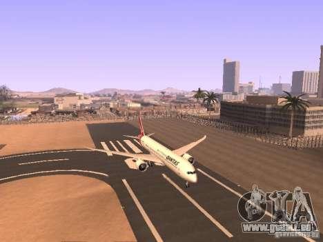 Boeing 787 Dreamliner Qantas für GTA San Andreas linke Ansicht