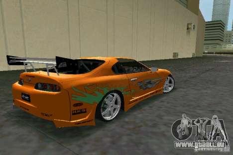 Toyota Supra Fast and the Furious pour une vue GTA Vice City de la droite