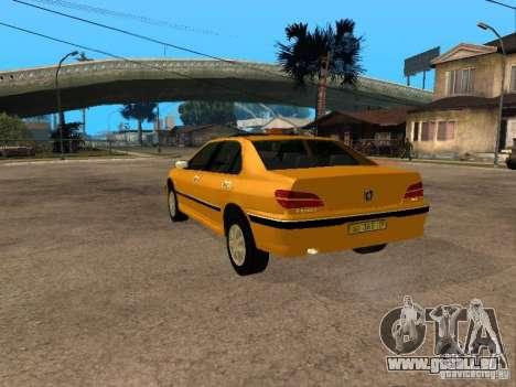 Peugeot 406 Taxi pour GTA San Andreas laissé vue