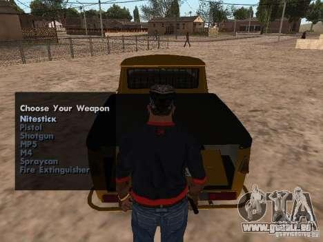 Armes à feu dans le coffre pour GTA San Andreas deuxième écran