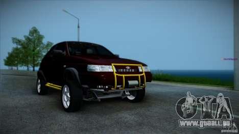 LADA 4x4 Tarzan pour GTA San Andreas sur la vue arrière gauche