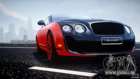 Bentley Continental SS 2010 Le Mansory [EPM] für GTA 4-Motor