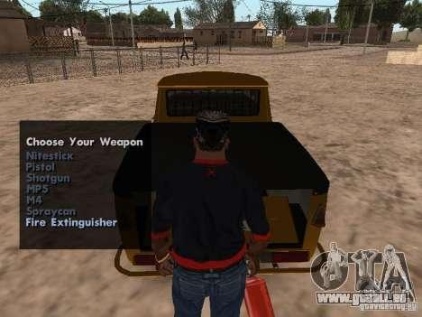 Armes à feu dans le coffre pour GTA San Andreas troisième écran