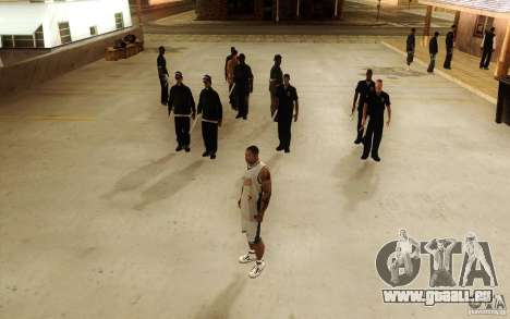 Sombras mais fortes em pedestres pour GTA San Andreas quatrième écran