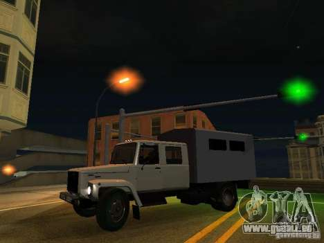 GAZ 3309 Jäger für GTA San Andreas Innenansicht