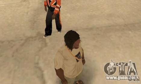 Longs cheveux noirs pour GTA San Andreas troisième écran