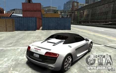 Audi R8 Spyder 5.2 FSI Quattro V4 [EPM] pour GTA 4 est un côté