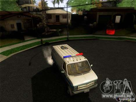 Chevrolet VAN G20 NYPD SWAT für GTA San Andreas obere Ansicht