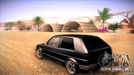 Volkswagen Golf MK II pour GTA San Andreas sur la vue arrière gauche
