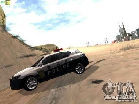 Lexus CT200H Japanese Police für GTA San Andreas rechten Ansicht