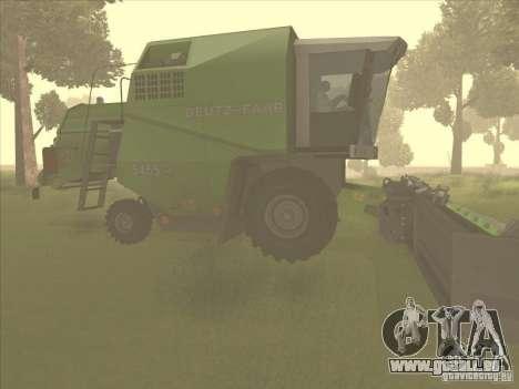 Deutz Harvester pour GTA San Andreas sur la vue arrière gauche