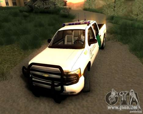 Chevrolet Silverado Police pour GTA San Andreas vue de droite