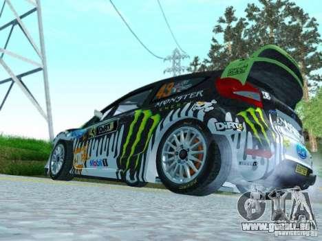 Ford Fiesta Ken Block Dirt 3 für GTA San Andreas rechten Ansicht